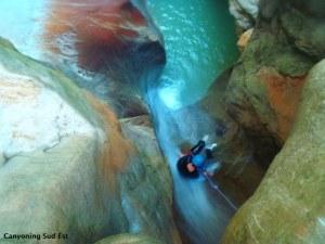 Canyoning du Riolan proche de Castellane et Nice.