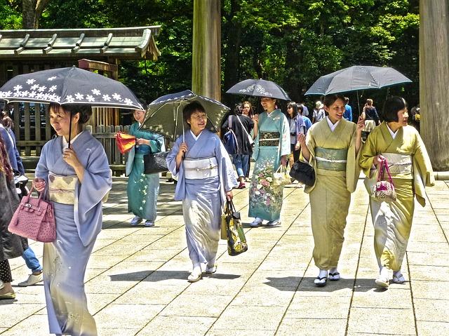 Shrine Festival Smiling Tokyo Japanese Japan